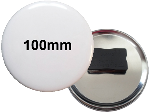 100mm Button mit Quadro-Textilmagnet