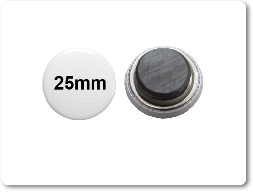 25mm Button als Tafelmagnet