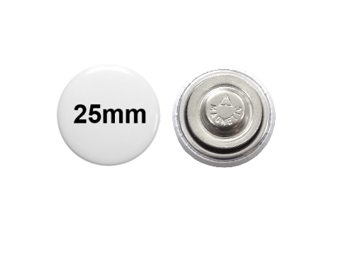 25mm Button mit Textilmagnet