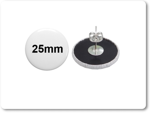 25mm Button mit Ohrstecker