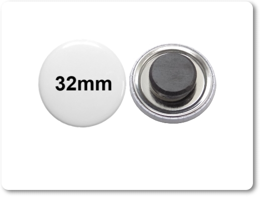 32mm Button als Tafelmagnet