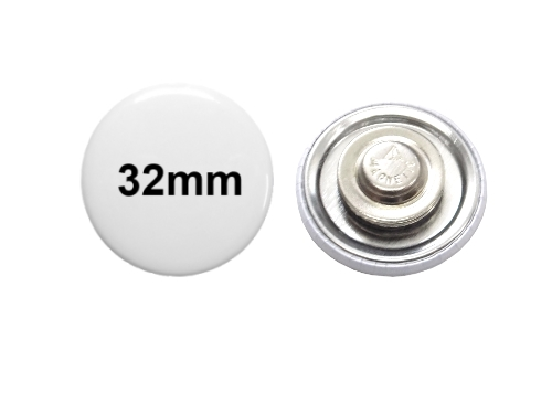 32mm Button mit Textilmagnet