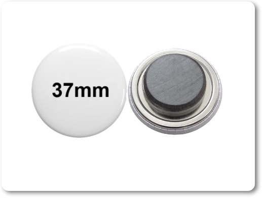 37mm Button als Tafelmagnet