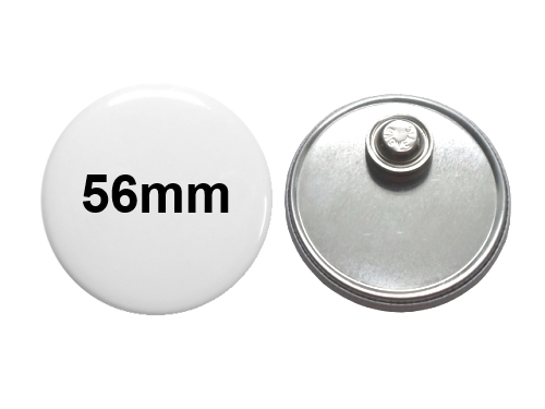 56mm Button mit Textilmagnet