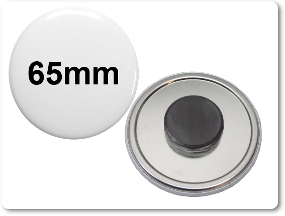 65mm Button als Tafelmagnet