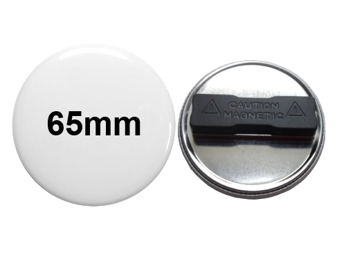 65mm Button mit Textilmagnet