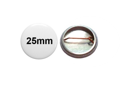 25mm Button mit Bogennadel