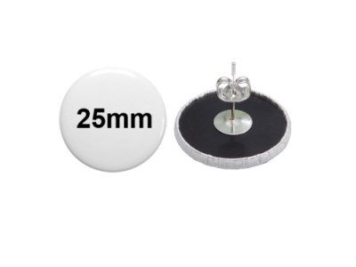 25mm Button als Ohrstecker