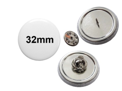 32mm Button mit Pin