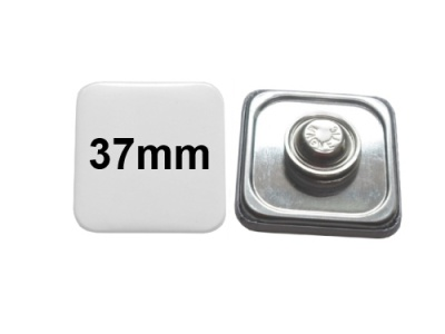 37x37mm Button mit Textilmagnet