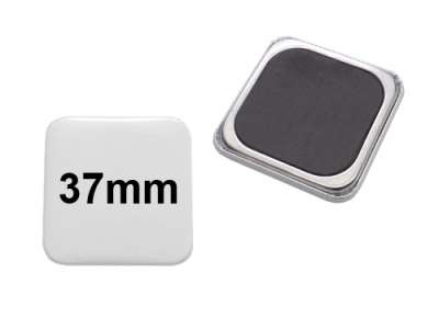 37x37mm Button mit Softmagnet