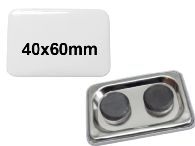 40x60mm Button mit Tafelmagnet