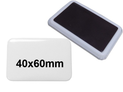40x60mm Button mit Softmagnet
