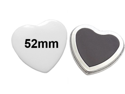 52x57mm Herz-Button mit Softmagnet