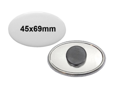 45x69mm Button mit Tafelmagnet