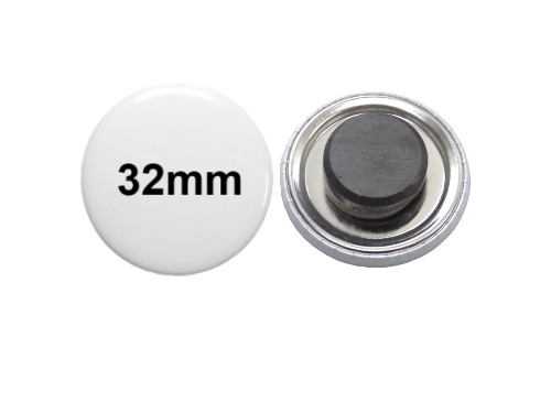 32mm Button mit Tafelmagnet