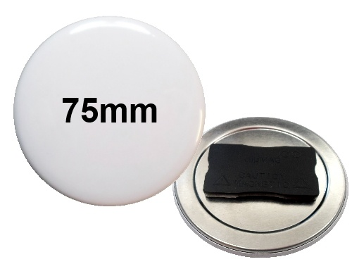 75mm Button mit Quadro-Textilmagnet